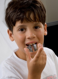 Boy With Retainer at Pediatric Dentist Office in Clarks Summit