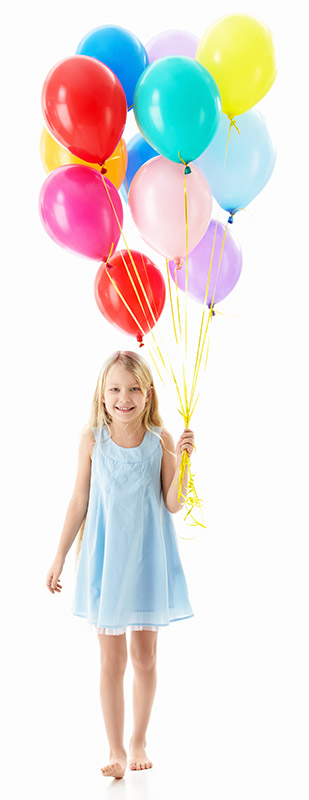Girl With Balloons at Pediatric Dentist Office in Clarks Summit
