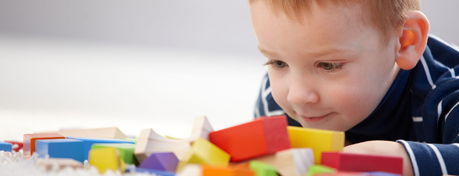 Boy Playing with Blocks at the Dentist - Pediatric Dentists in Clarks Summit, PA