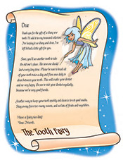 Toothfairy Letter at Pediatric Dentist Office in Clarks Summit